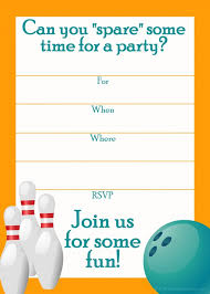 Bowling Party Invitations Bowling Birthday Party Invitation Template Aesthetecurator Com