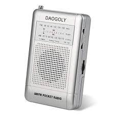Daogoly Portable Pocket AM/FM Radio Receiver with ... - Amazon.com