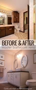 Diy Bathroom Reno Remodelaholic Diy Concrete Countertops In A Beautiful Master