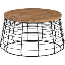 This industrial style coffee table is super simple and clean, and works will any. Apis Brown Coffee Table
