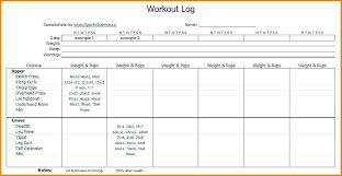 Workout Spreadsheet Fitness Journal Template Workout Diary Download Log Training Stock