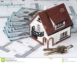 Dream Plan Home Design Key Toy House And Keys On Building Plan Stock Image Image Of