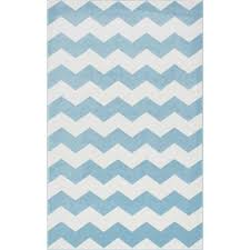 nuloom aponte chevron light blue 5 ft x 8 ft area rug