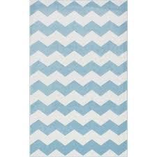 nuloom aponte chevron light blue 5 ft x 8 area rug rzpl01d
