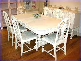 white distressed dining table stylish awesome room furniture sets of intended for 1