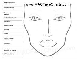 Blank Face Chart Blank Mac Face Chart