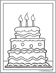 Small Picture Download Birthday Cake Coloring Pages