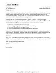 Unique Hotel General Manager Resume Cover Letter Hotel General