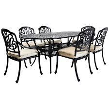 charles bentley cast aluminium 7 piece outdoor dining set