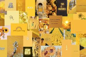 cute aesthetic yellow laptop wallpapers