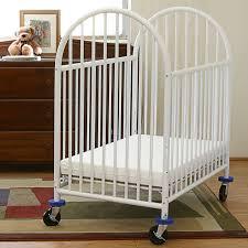 compact nursery furniture. LA Baby Compact Metal Non Folding Crib With 3 In Mattress Nursery Furniture F
