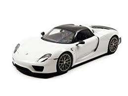 918 spyder white. porsche 918 spyder weissach package glossy white 118 by autoart 77926