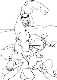 Small Picture Hulk breaking the rock coloring pages Hellokidscom