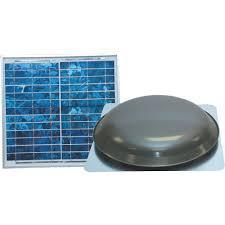 Ventamatic Solar-Powered Ventilating Fan with Panel  Roof- Mounted  Ventilator, 1000 CFM