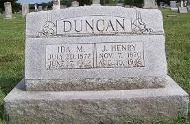 James Henry Duncan + Ida May Duncan - Our Family Tree