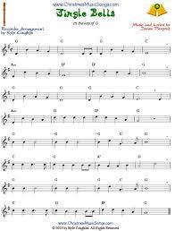 Jingle Bells For Recorder Sheet Music Saxophone Sheet