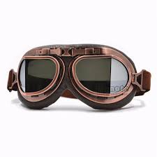 cafe racer helmet and goggles