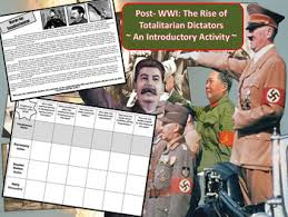 totalitarian leaders post wwi rise of totalitarian dictators an introductory activity