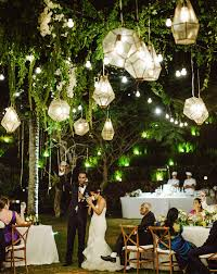romantic cliffside bali wedding trish sid green wedding shoes within hanging lights for