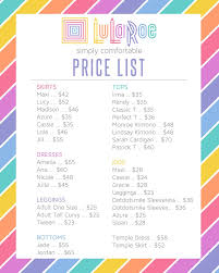 Lularoe Price Chart Margo Driscoll Zomom On Pinterest