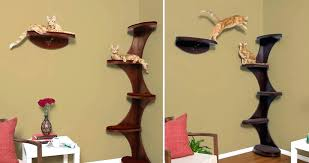 wall mounted cat tree modern alternatives for up to date pets corner furniture dolomit xl tofana wall mounted cat
