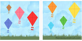 Free File Folder Game For Preschoolers Kites The Measured Mom