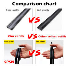 Wiper Blade Refills Size Chart Us 1 75 20 Off 2pcs 6mm Universal Auto Vehicle Insert Soft Rubber Strip Refill For Frameless Wiper Blades 26