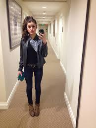 black leather jacket women outfit leather jacket ny co black tee joe s skinny jeans
