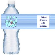 Baby Shower Labels TemplatesBaby Boy Shower Water Bottle Labels