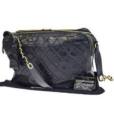 Auth CHANEL Quilted Chain Shoulder Bag Patent Leather Black ... & Image is loading Auth-CHANEL-Quilted-Chain-Shoulder-Bag-Patent-Leather- Adamdwight.com