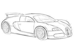 Small Picture Learn How To Draw Bugatti Chiron Sports Cars Step By Step Drawing