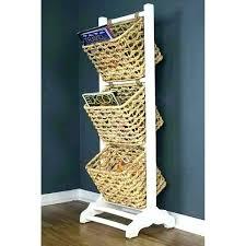 tiered basket storage wire stand 3 tier wicker baskets t tower floor shoe fruit 3 tier storage basket amazing stand