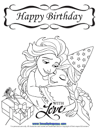 If you are keeping interested in coloring and drawings than simply download and print them on drawing sheets. Www Hmcoloringpages Com Wp Content Uploads Frozen Happy Birthday With Love Coloring Happy Birthday Coloring Pages Birthday Coloring Pages Frozen Coloring Pages
