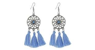 Bohemian <b>Vintage</b> Long Tassel <b>Earrings</b> Dream Catcher <b>Dangle</b> ...