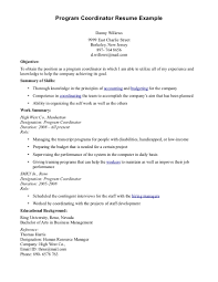 program coordinator resume  best template collection program manager resume