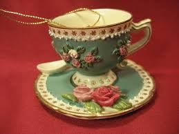 Decorative Cups And Saucers Pretty Resin Tea Cup Saucer Ornament Decoration Collectible 70
