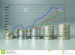 Stock Market Analysis Analysis Stock Market Graph And Stack Of Coins Stock Photo Image 19