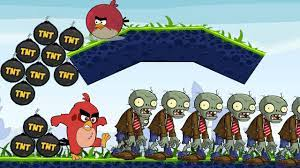 Angry Birds Fried Zombies - HELP TERENCE BURN ZOMBIES BY KICKING TNT BOMB!  - YouTube
