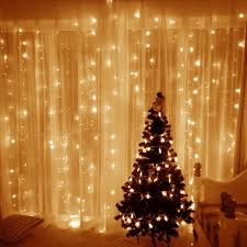 Diy Curtains With Lights Window Curtain Icicle String Light 306 Led 9 8ft Led String