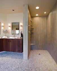 portland shower pebble bathroom transitional with asian drawer vanities tops cantilevered vanity