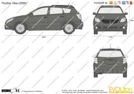 The-Blueprints.com - Vector Drawing - Pontiac Vibe