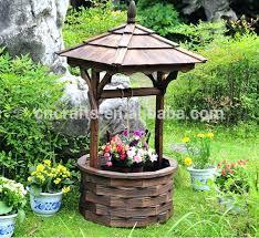beautiful wishing well outdoor decor outdoor garden wooden wishing well timber rustic backyard ornament