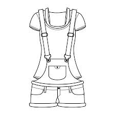 Clothes Template Clothes Template Overall For Girl Royalty Free Cliparts Vectors