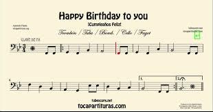 happy trombone sheet music happy birthday sheet music for cello basson tuba trombone and