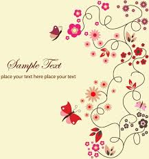 Free Download Greeting Card Free Vector Floral Greeting Card Free Vector In Encapsulated