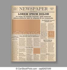 Newspaper Front Template Old Newspaper Front Page