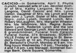 "Obituary of Philomena Helen ""Phyllis"" Lynch - Newspapers.com"
