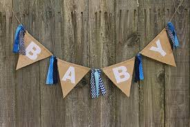 How To Make Burlap Banner For Baby Shower Burlap Pennant Banner Baby Shower Burlap Banner