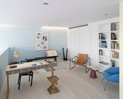 pastel blue in the stylish scandinavian home office from peter landers photography blue white home office