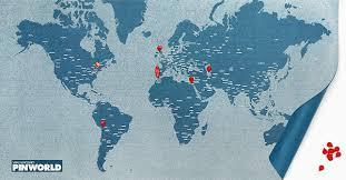 Pin World Map Medium The Chart Map Shop
